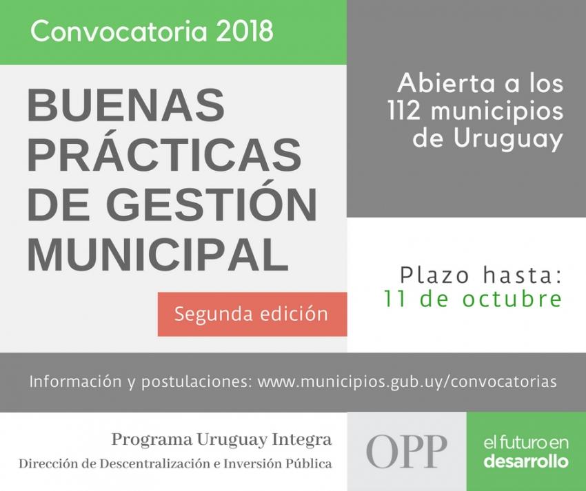 Convocatoria  de OPP que premia Buenas Prácticas de Gestión Municipal
