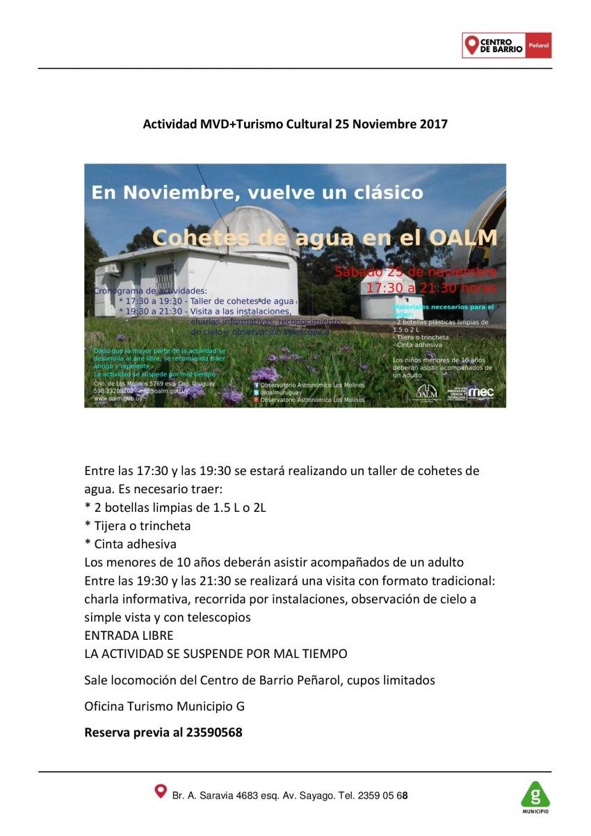 Municipio G: Actividad MVD + Turismo Cultural