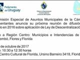 Comisión de Asuntos Municipales intercambiará con Municipios e Intendencias de Región Centro